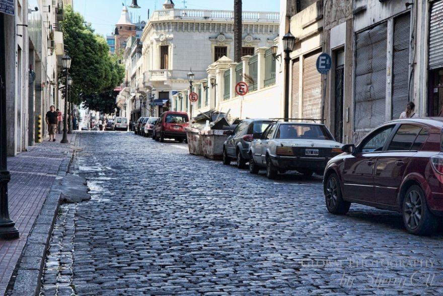 Cobblestone streets San Telmo