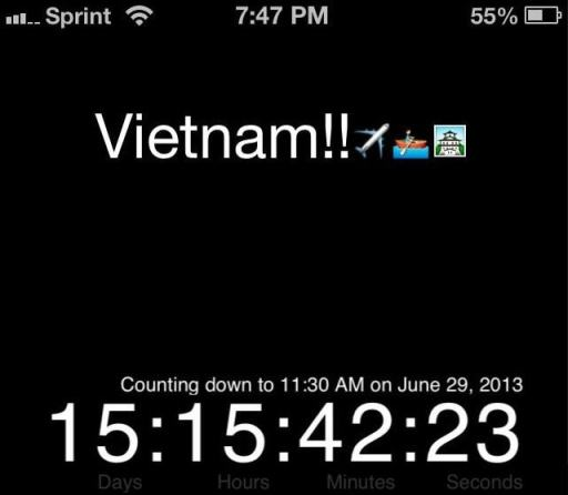 Countdown to vietnam