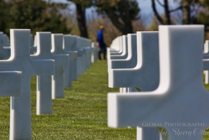 American WWII memorial cemetery normandy