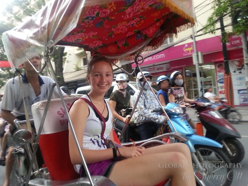 cyclo ride Hanoi