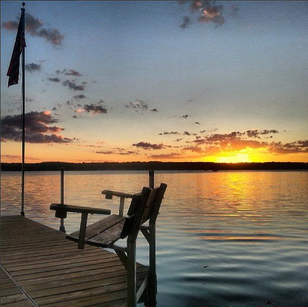 Lake sunset wisconsin