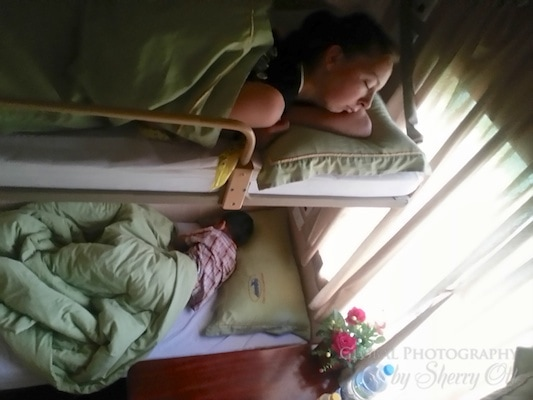 Sleeper car train vietnam