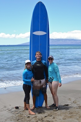 Maui Surfer Girls surf lessons