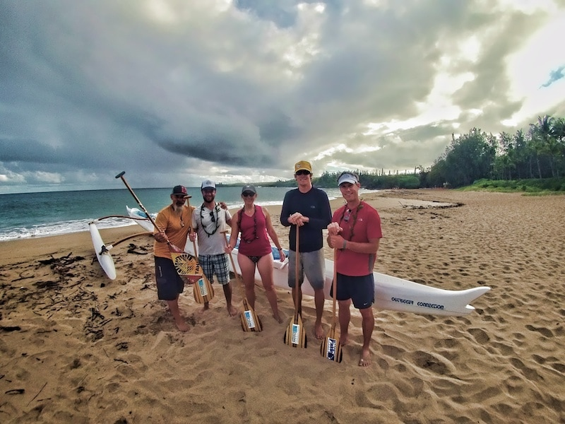 Hawaii Paddle Sports outrigger canoe
