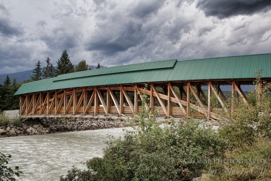 Golden BC timber bridge