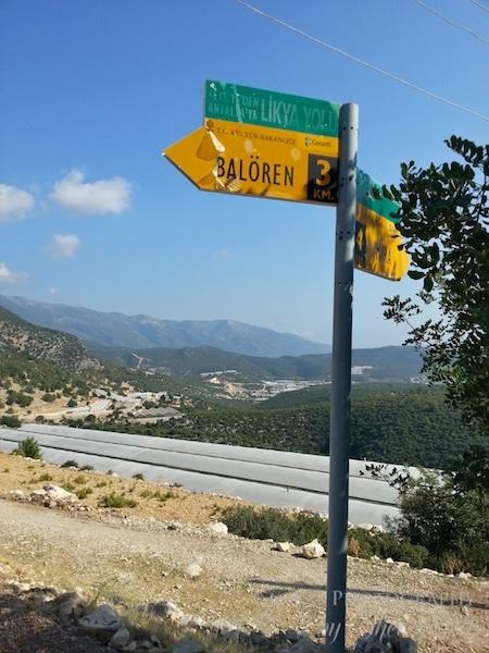 Lycian Way signs