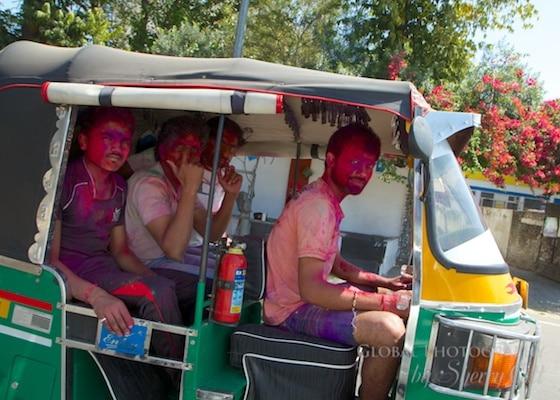 Rickshaw Holi