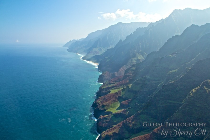 Napali Coast by helicopter