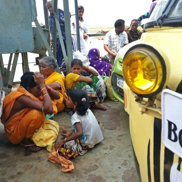 ferry ride on the rickshaw run