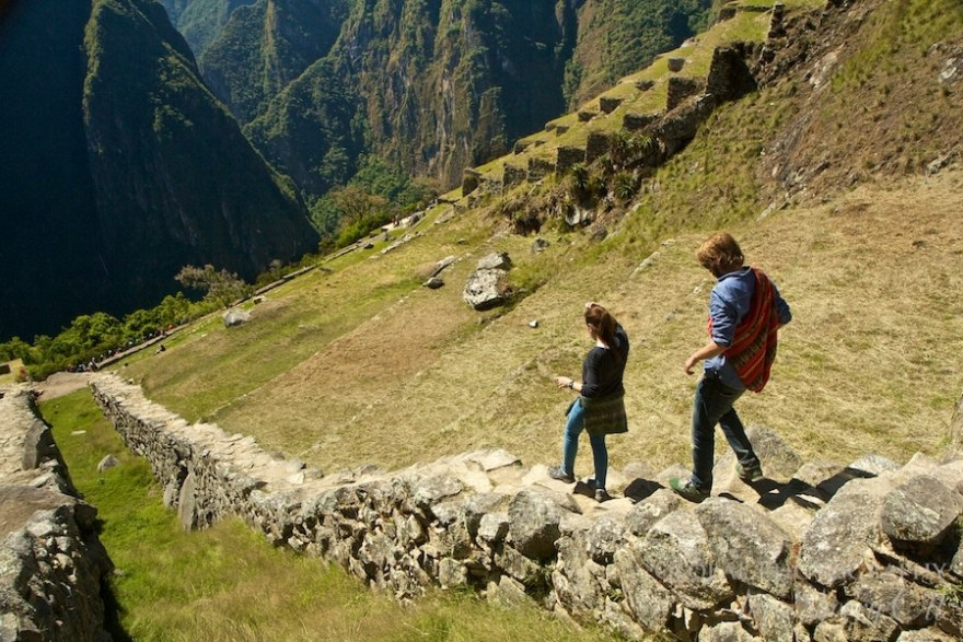 stone steps machu picchu