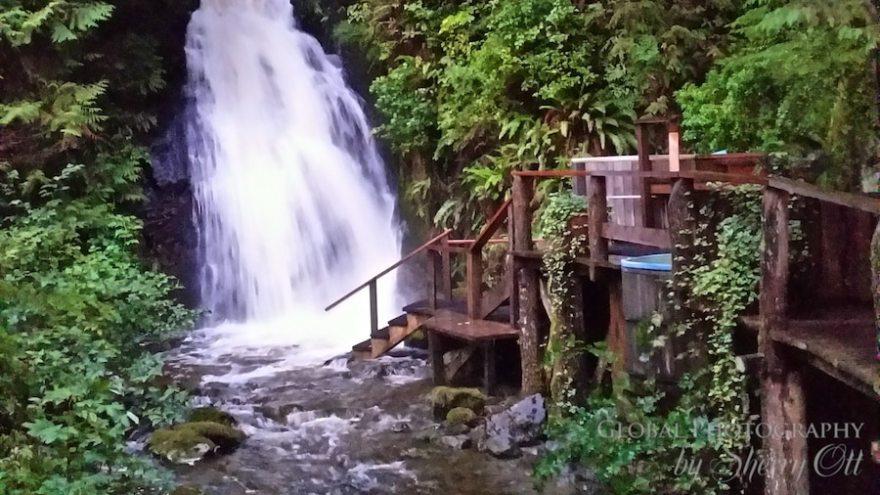 waterfall nimmo bay resort