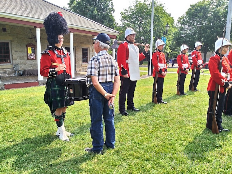 Inspecting the guard Fredericton