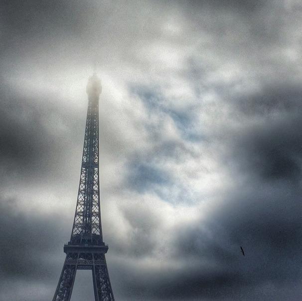 Eiffel Tower fog