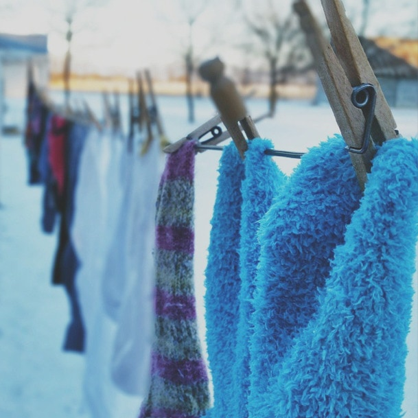 winter Clothesline