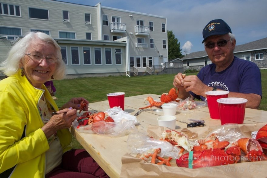 Canadian Lobster for lunch in New Brunswick