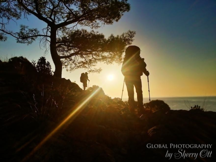hiking lycian way sunset