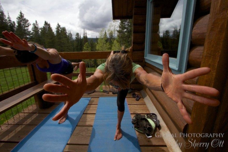 Colorado hut yoga