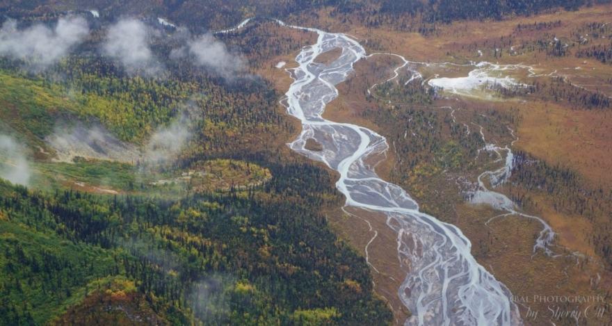 view from alaska bush plane