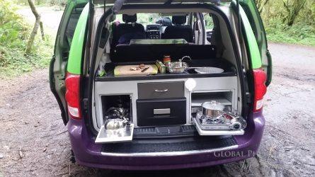 Jucy Camper van kitchen
