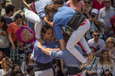 castellers make a human tower