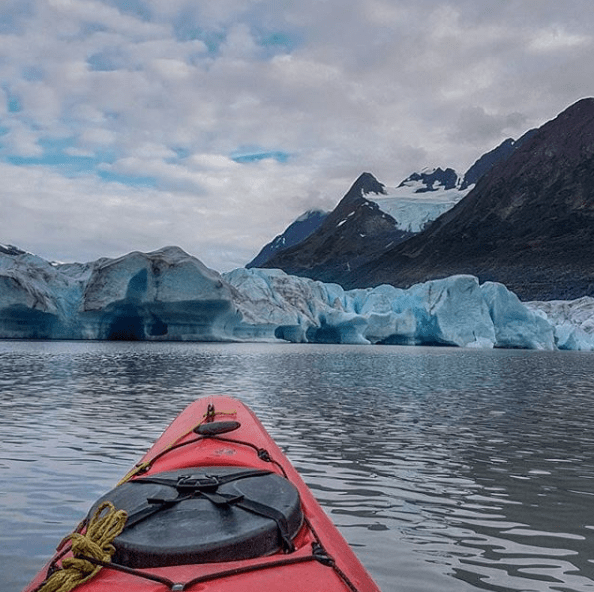 Alaska Wilderness kayaking spencer glacier