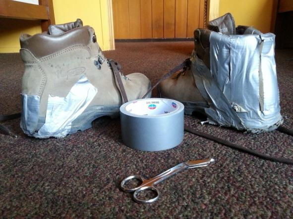duct tape is definitely an essential piece of hiking gear
