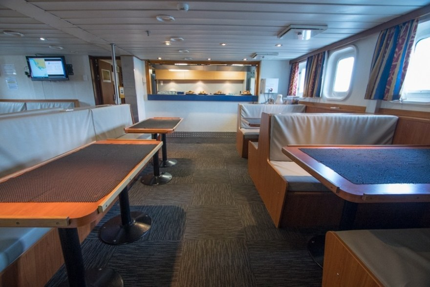 another angle of the bar/library on the spirit of enderby