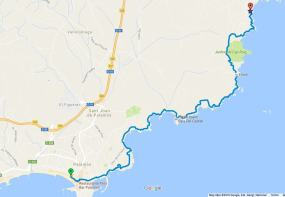 cami de ronda day hike palafrugell map