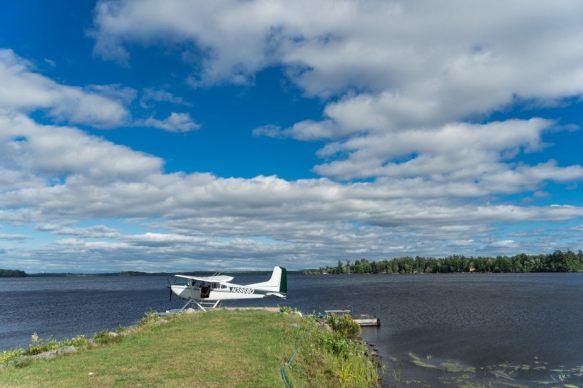 Libbys camp maine float plane