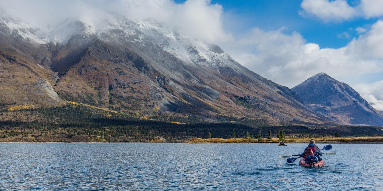 Kayak on Twin Lakes in Lake Clark National Park