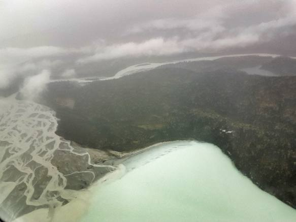 twin lakes alaska from above
