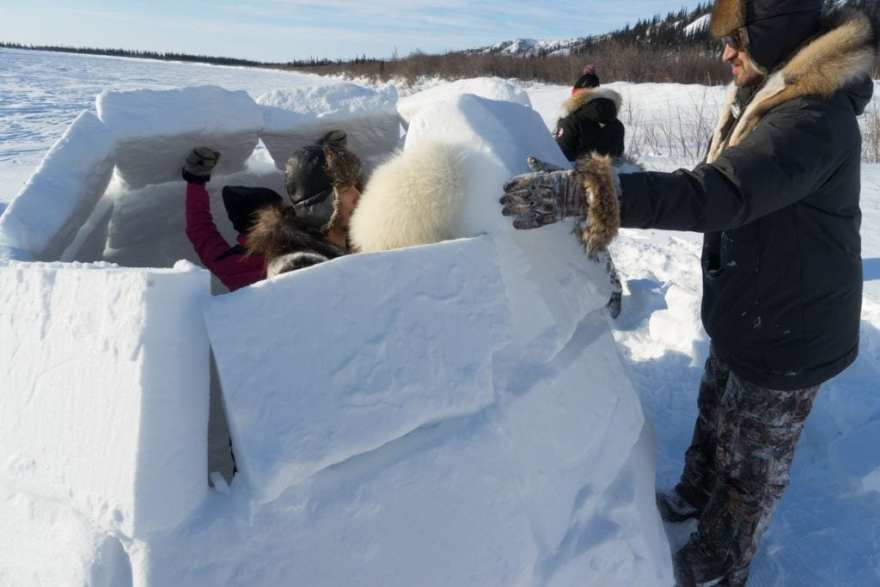 how to build an igloo canadian arctic