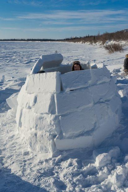 building an igloo inuvik