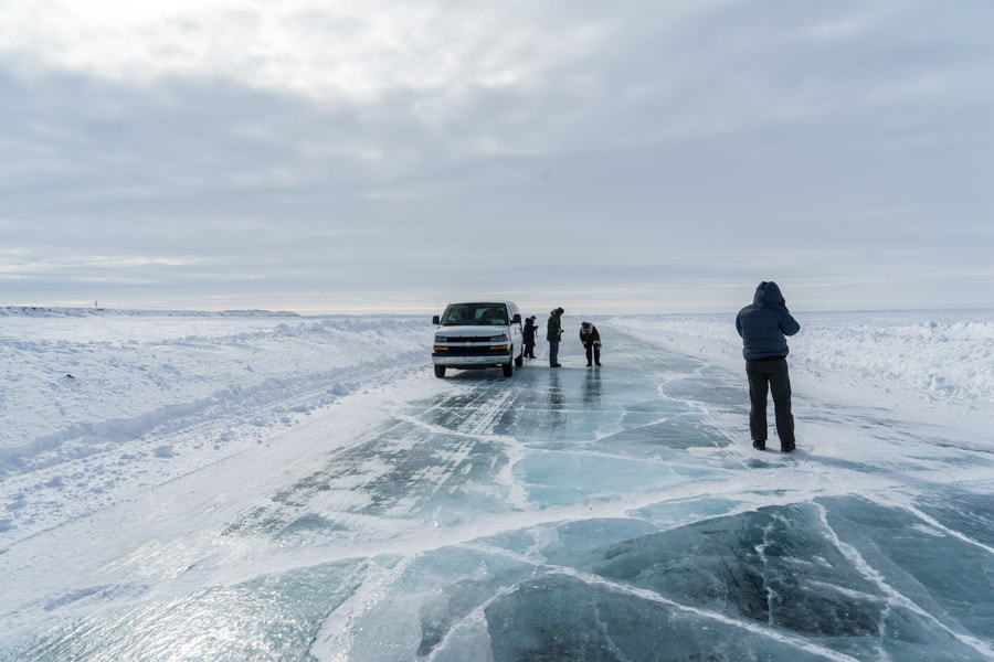 Travel Inuvik Northwest Territories ice roads Canada