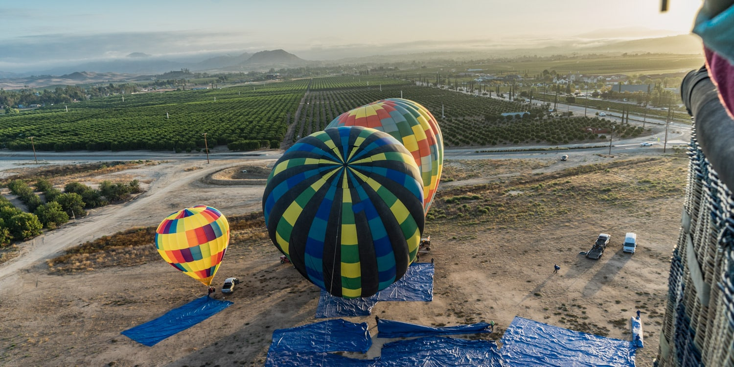 hot air balloon southern california temecula