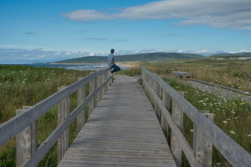 cape breton hike inverness boardwalk