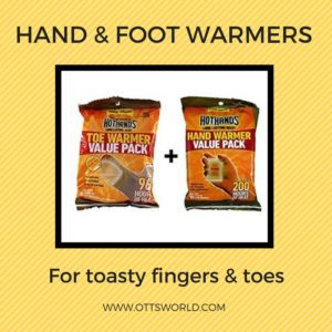 hand foot warmers are an essential part of an Alaska Packing List