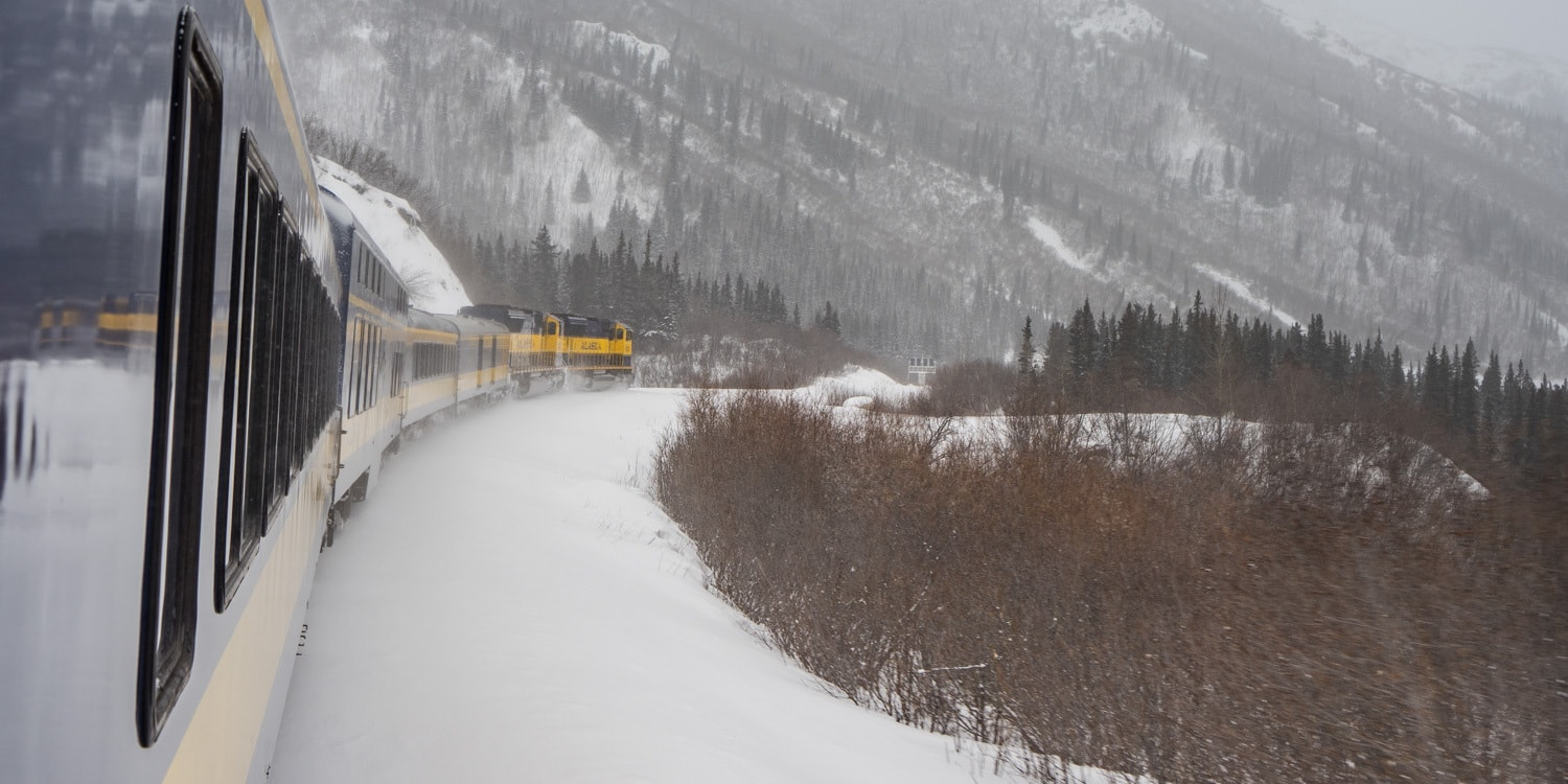 Fairbanks Alaska winter train