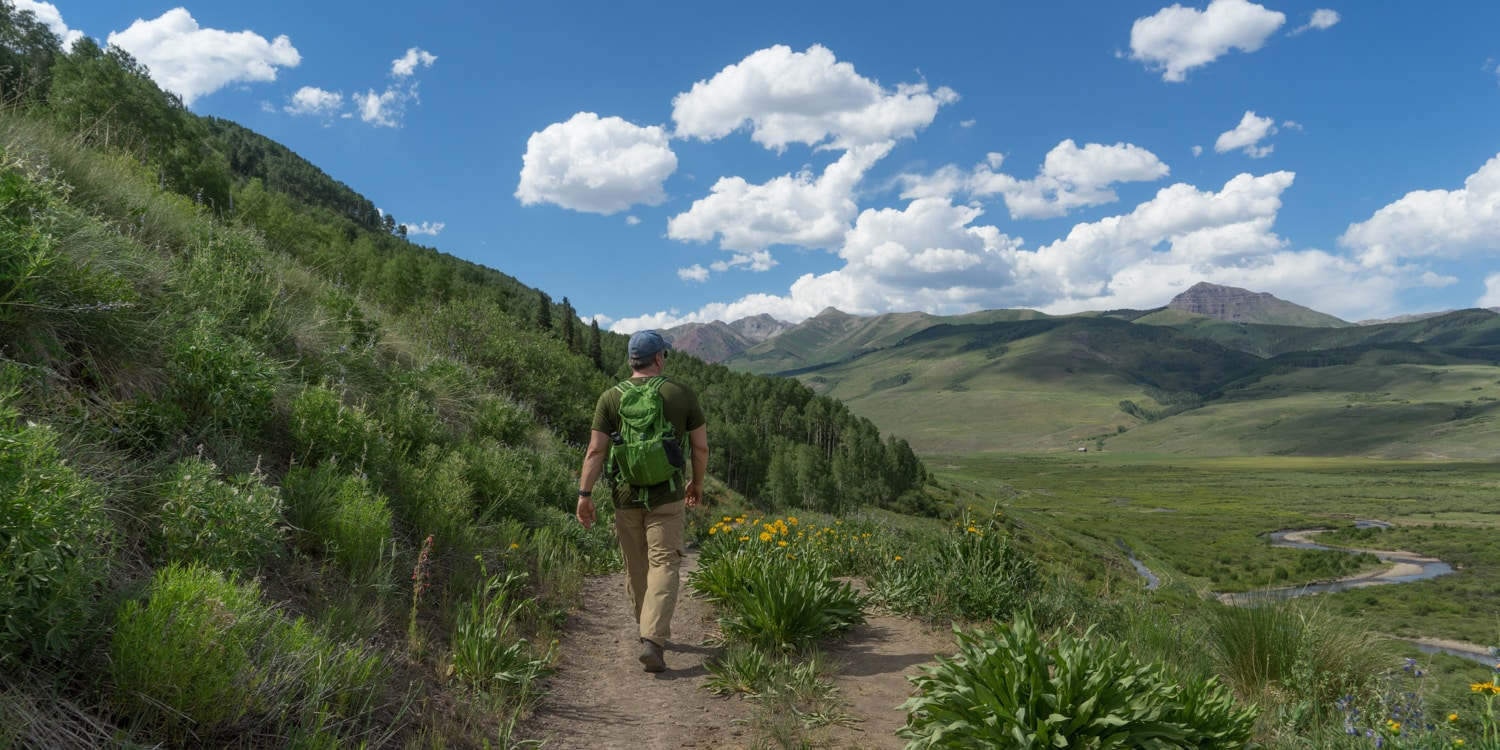 crested butte hiking bush creek trail
