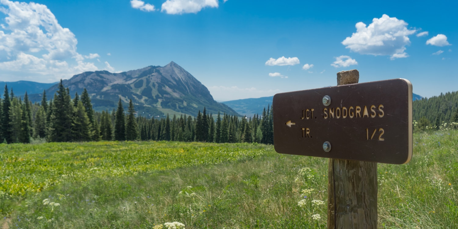 snodgrass mountain hike crested butte