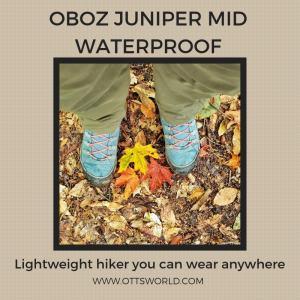 oboz juniper hiking gear