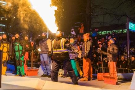 Quebec winter carnival parade