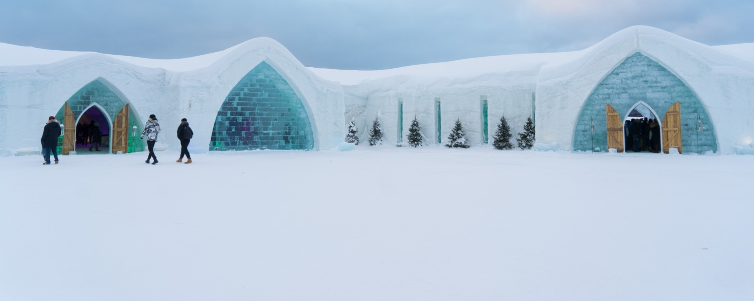 Quebec winter ice hotel