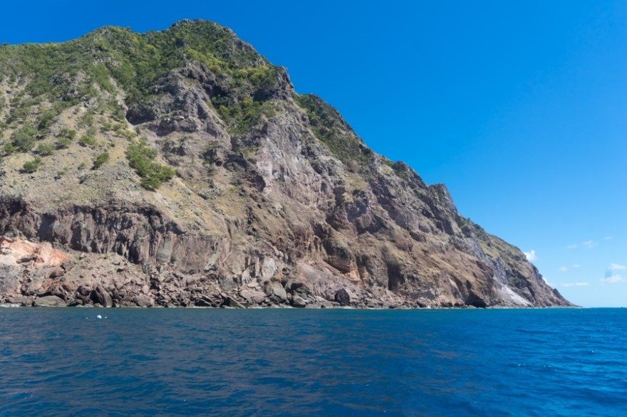 saba island view from the water