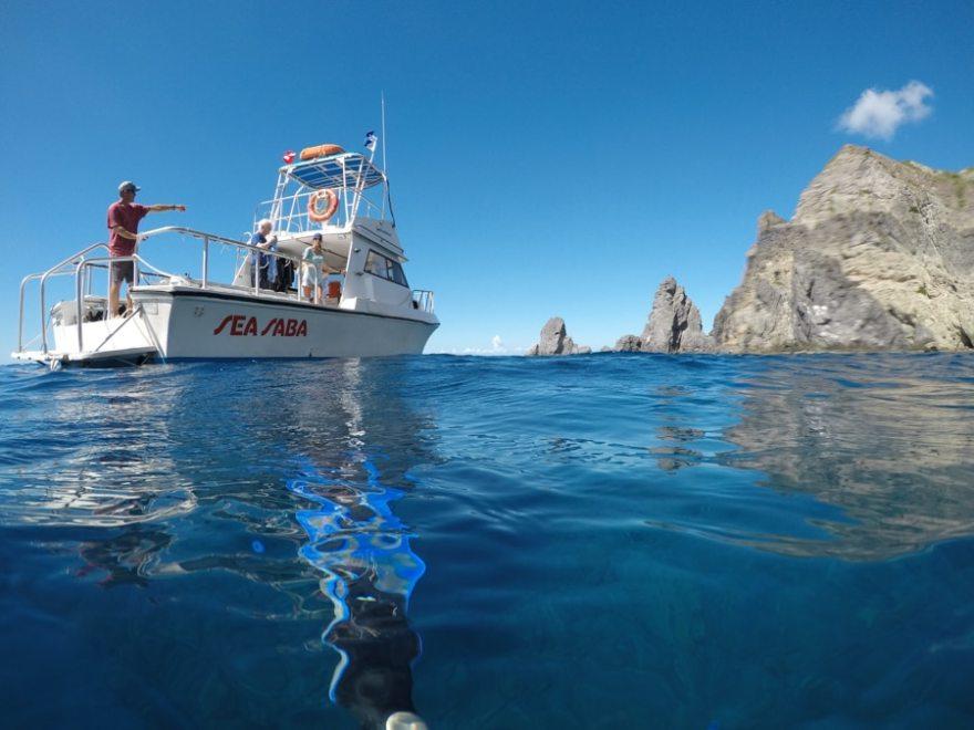 snorkeling saba island