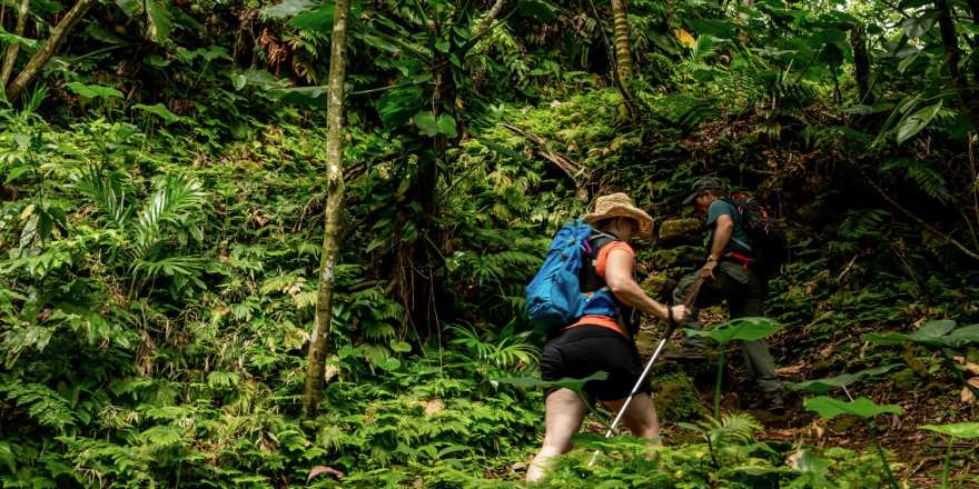 Sandy Cruz hiking trail saba
