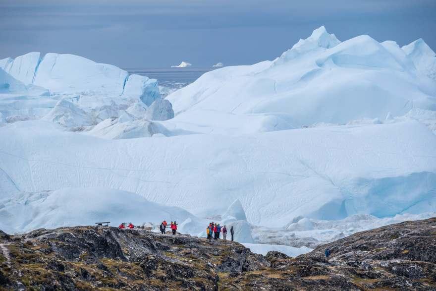 Greenland ice fjord