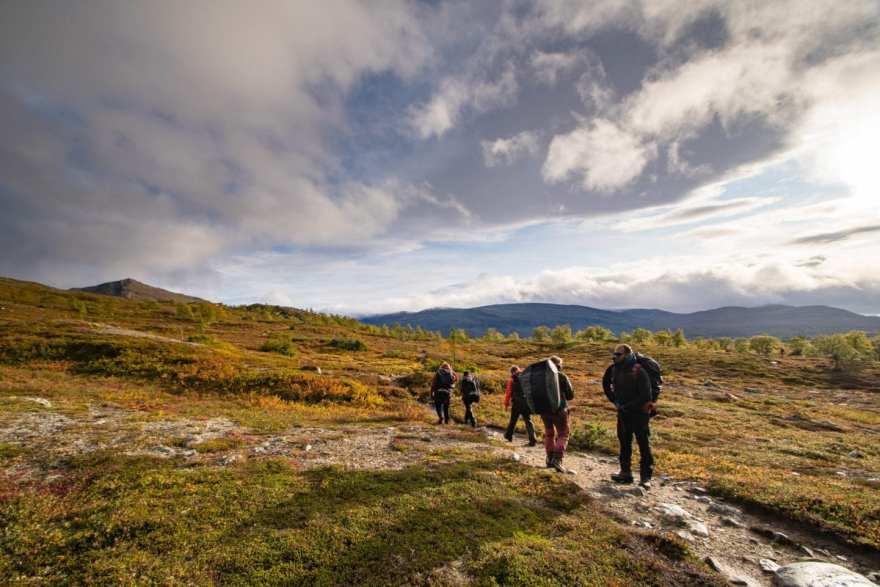 hiking sweden countryside