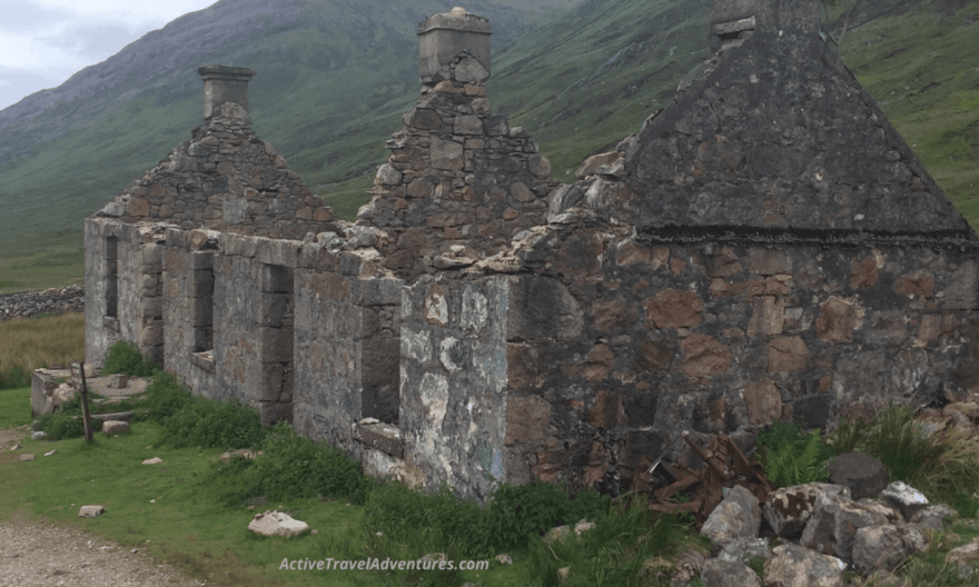 Crumbling house on the west highland way