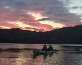 night kayaking west cork